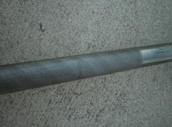 A picture of the restored barbell.
